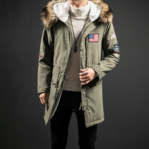 New Fashion Hooded Winter Jacket Men Thick Warm Fur Collar Parkas Man Coat Outerwear Zipper Jackets Male Parka Coats 4XL5XL