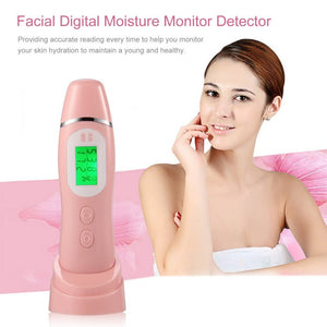 LCD Digital Moisture Monitor Detector LED Facial Tester Face Skin Care Tool Analyzer Skin Moisture Oil Elasticity Fluorescent