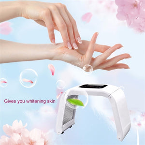 7 Colors Facial Skin Care Device Beauty Instrument Electric Face Tightening Whitening Lifting Phototherapy Spectrometer PDT/LED