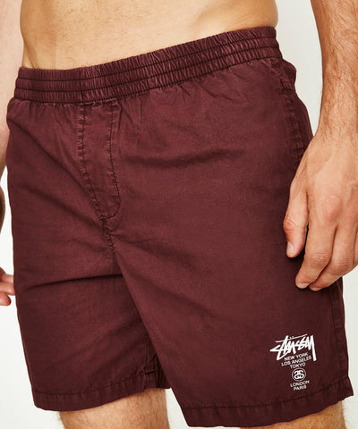 STUSSY Basic Cities Beach Shorts Dark Aubergine  product_vendor] - HITTIN'THE STREET