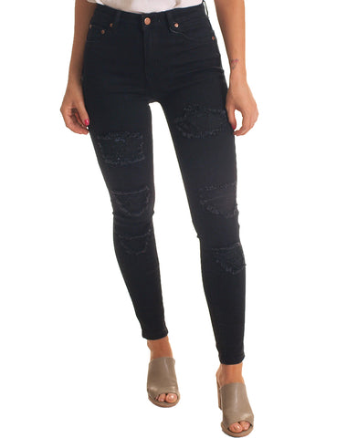 WAKEE Ripped Jeans - Black
