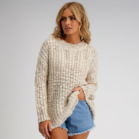 WHITE CLOSET Knit Jumper - Cream Beige