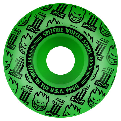 Spitfire VFlash Neon Green Wheels  product_vendor] - HITTIN'THE STREET