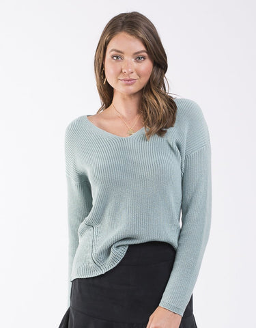 ALL ABOUT EVE Refined Knit Top - Mint