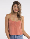 ALL ABOUT EVE Button Up Cami - Copper