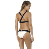 Fox Divine Halter Bikini White/Black  product_vendor] - HITTIN'THE STREET