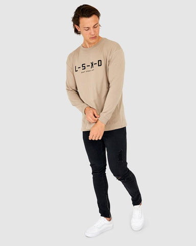 LSKD Label LS Tee - Taupe
