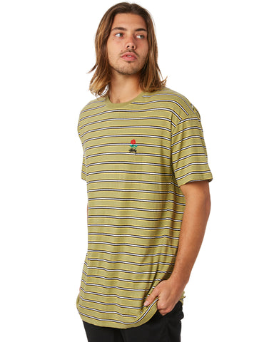 STUSSY Rose Stripe Tee - Military
