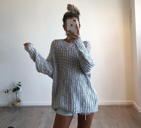 WHITE CLOSEST Knit Jumper - GREY