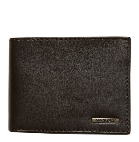 SANTA CRUZ Strip Leather Wallet- Chocolate