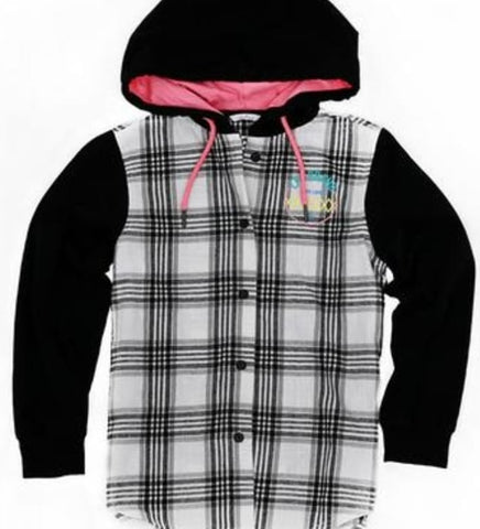 Youth Girls LKI Flannelette Hooded Shirt  product_vendor] - HITTIN'THE STREET
