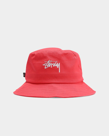STUSSY - Stock Bucket Hat - CORAL