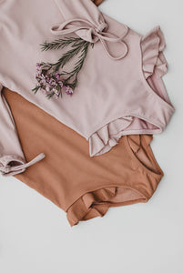Ribbed Mauve Swimsuit PRE-ORDER