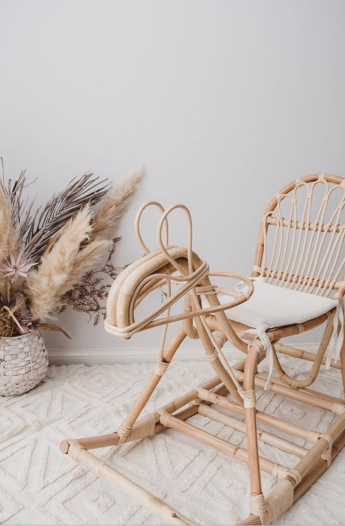 Rattan Rocking Horse Valentineandcocollections