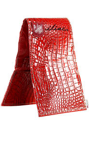 Yardage Book Cover - Italian Croc Red - iliac by Bert LaMar