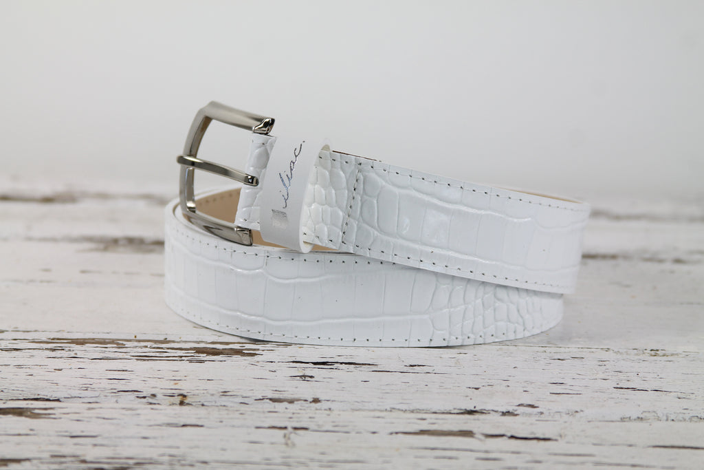 The Pearl - Croc Pure White
