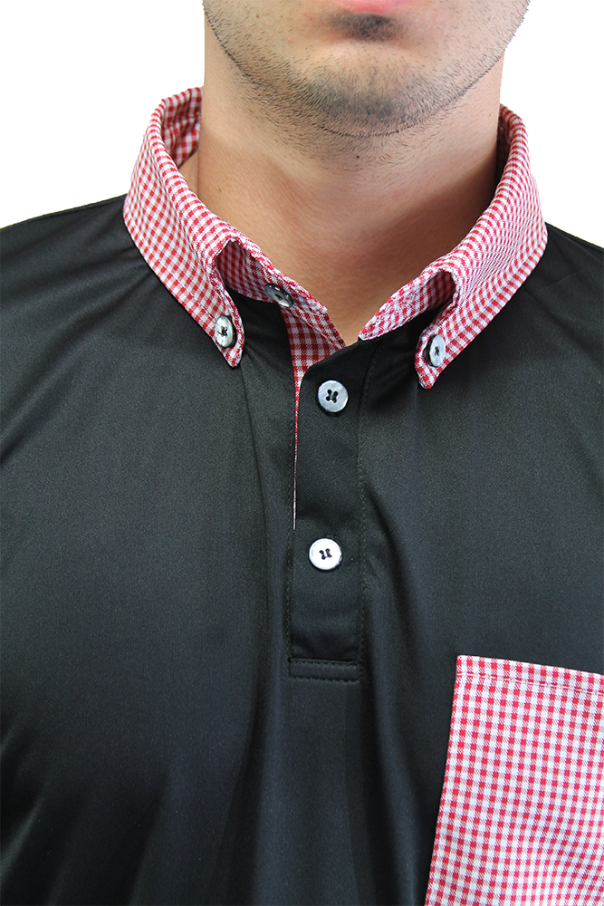 The Pocket Classic - Black/Fire Gingham - iliac by Bert LaMar