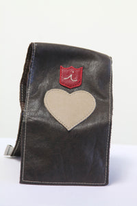 Yardage Book Cover - PGA Tour Certified - Heart . Chocolaté Brown - iliac by Bert LaMar