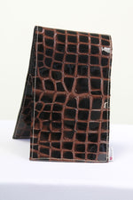Yardage Book Cover - PGA Tour Certified - Espresso Patent Croc . Tan Heart - iliac by Bert LaMar