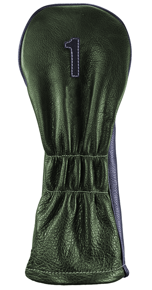 The Vintage Two - Old English Green / Navy / Pure White Stitching - iliac by Bert LaMar