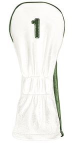 The Vintage Two - Pure White / Old English Green / Pure White Stitching - iliac by Bert LaMar