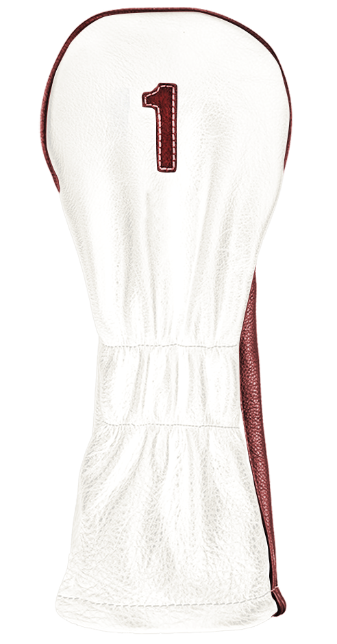 The Vintage Two - Pure White / Ox Blood / Pure White Stitching - iliac by Bert LaMar