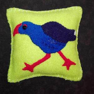 NZ wool applique pukeko