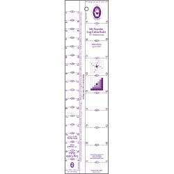 "Marti Michell Log Cabin Ruler - 1/2"" and 1"" Finished Strip Sizes"