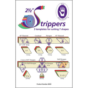 "Marti Michell - Strippers 2 1/2""  3 templates for 7 shapes."