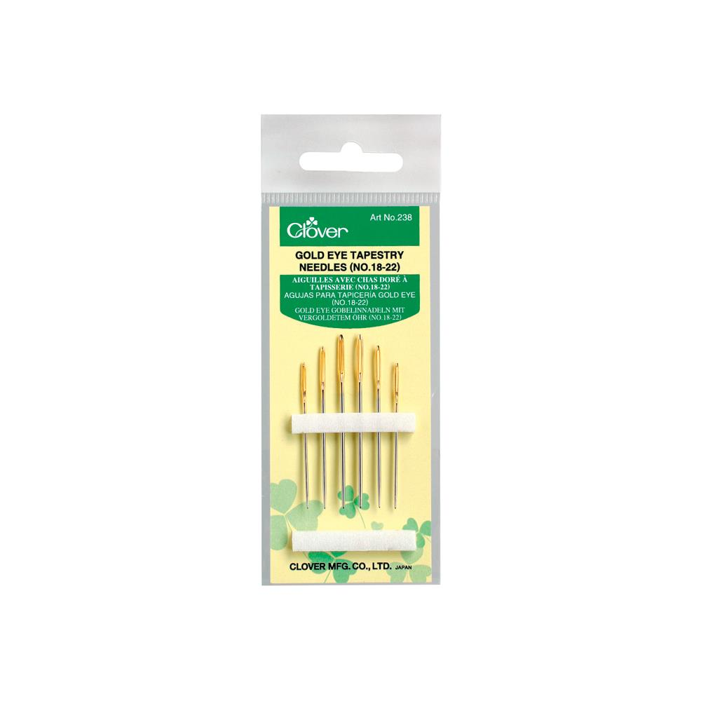 Clover -(NO.18-22) Gold Eye Tapestry Needles
