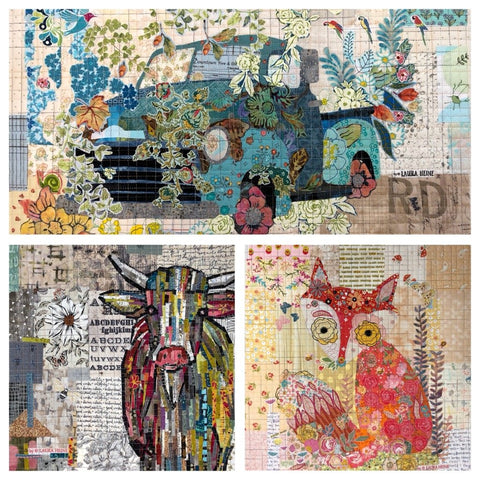Teeny Tiny Pattern Group 2- Collage Patterns by Laura Heine