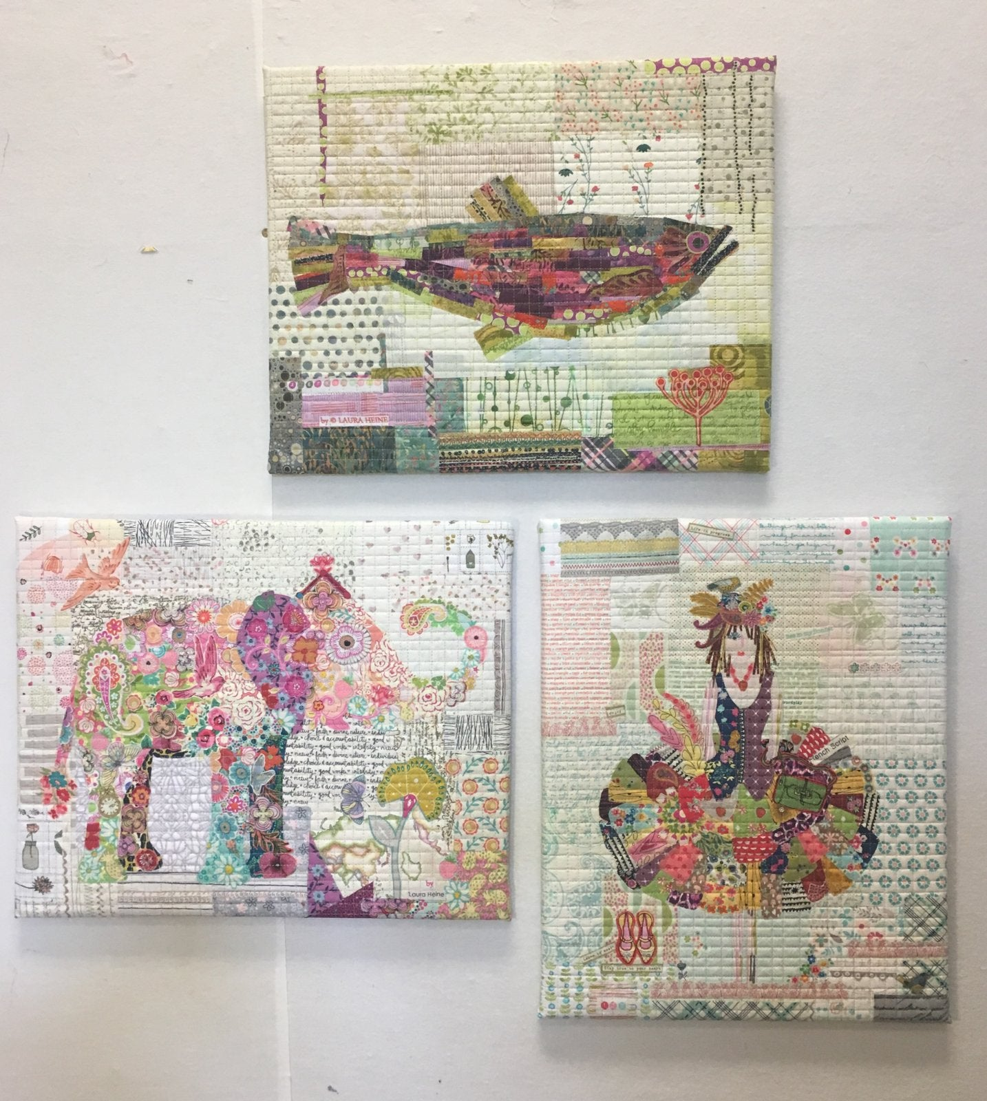 Teeny Tiny Pattern Group 1 - Collage Patterns by Laura Heine