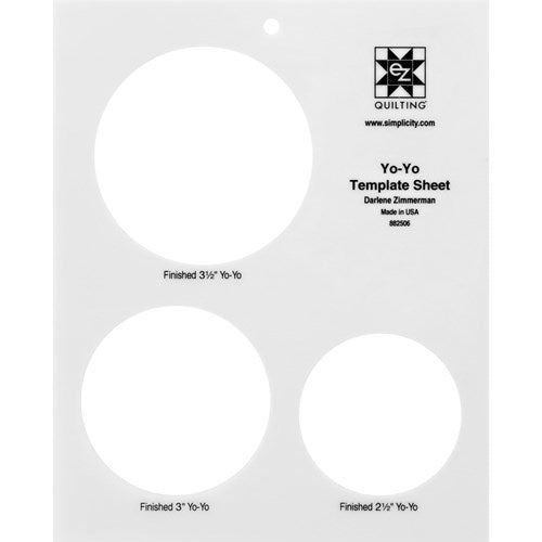 Circle Template Sheet - Ez Quilting