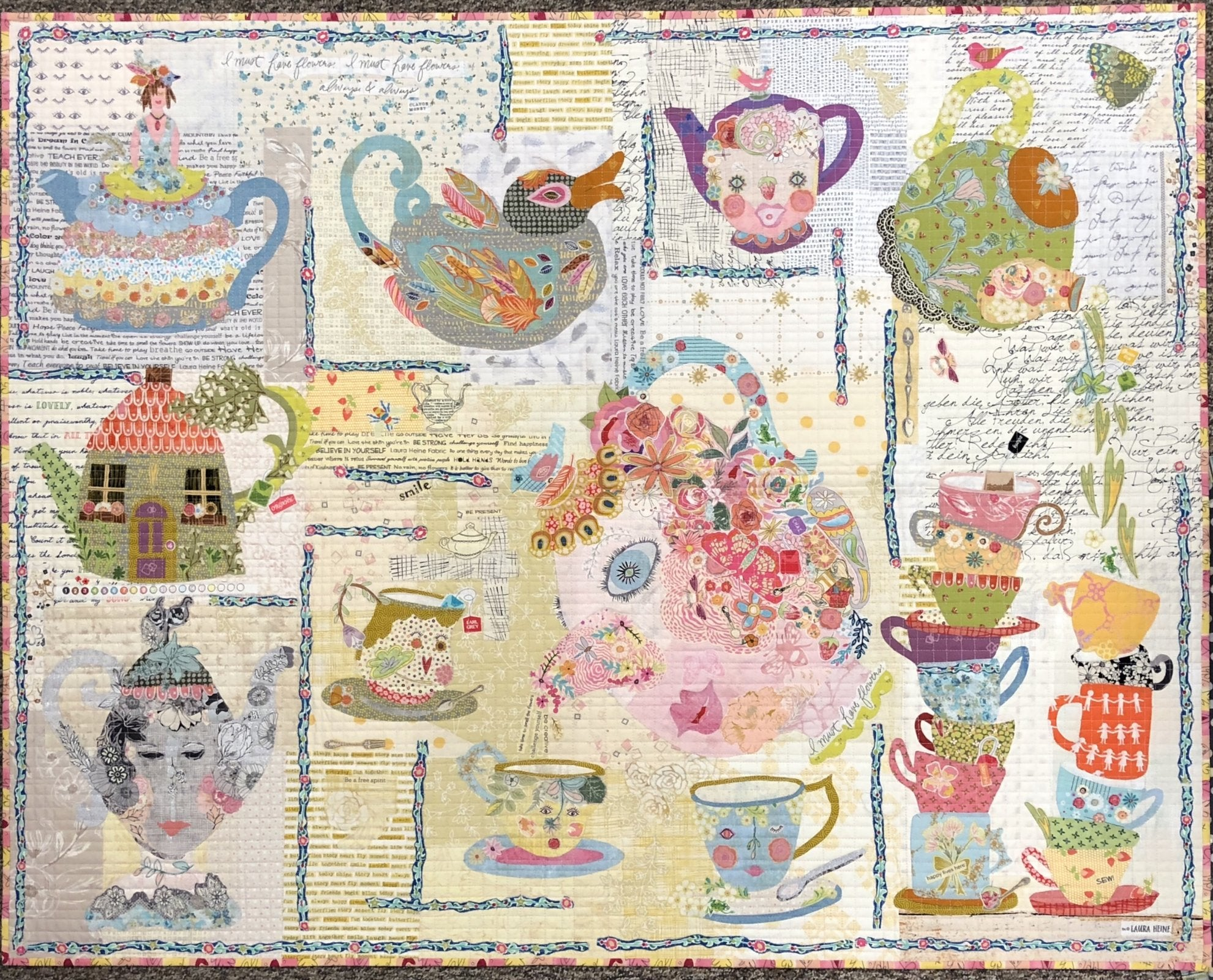Tea Party Collage  Pattern by Laura Heine