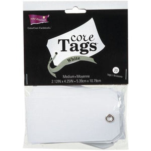 Core'dinations - tags white assorted