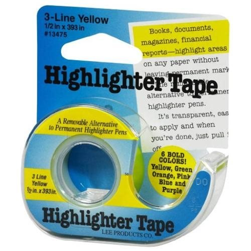 Lee Products - Highlighter Tape