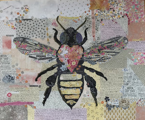 Honey Bee Collage Quilt Pattern by Laura Heine