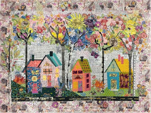 Birch Street Collage Pattern by Laura Heine