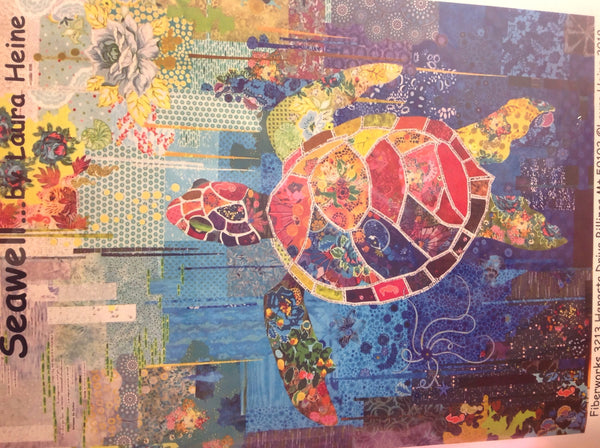 Seawell turtle collage pattern by Laura Heine