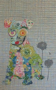 Emerson Puppy Collage Pattern by Laura Heine