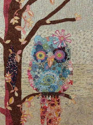 KIT and Pattern of Cora Common Owl Collage Quilt   by Laura Heine