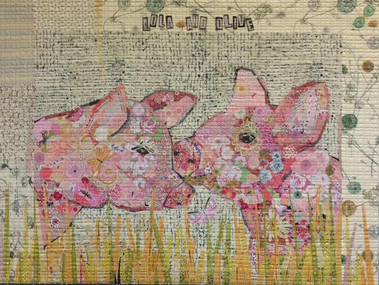 Lola and Olive Collage Pattern by Laura Heine
