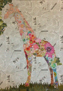 Potpourri Giraffe Collage Laura Heine