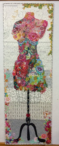 Perfect Form Dress Collage Pattern by Laura Heine