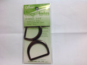 "Clover D-Rings 1 1/4"" 30mm"