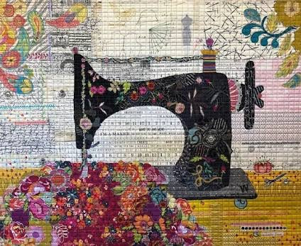 Featherweight - Collage Pattern by Laura Heine