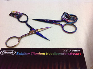 Rainbow titanium needlework scissors