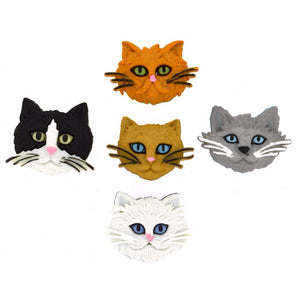 Fuzzy Felines - Dress It Up Buttons