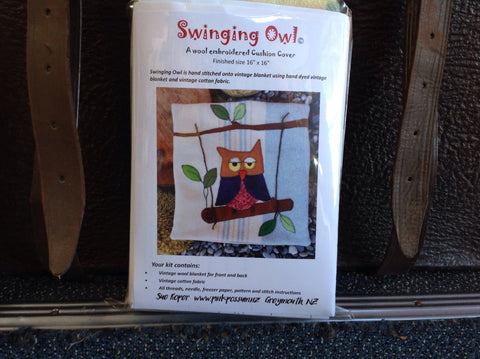Swinging Owl Cushion  Pattern