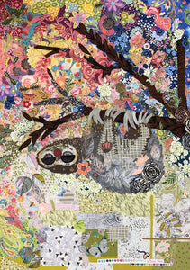 Cloth Sloth - Collage Pattern by Laura Hiene